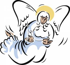 300x278 Clip Art Image A Flying Angel
