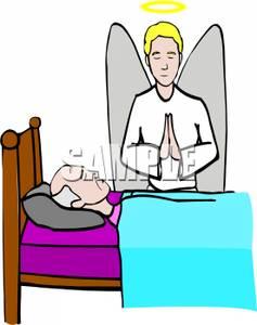 237x300 Guardian Angel Praying Over A Sick Man