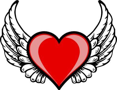 474x364 Heart Wing Logo Clip Art