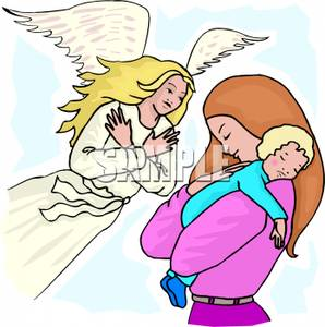 298x300 A Guardian Angel Watching Over A Mother And Child