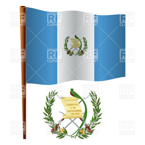 480x480 Guatemala Flag And Coat Of Arms Royalty Free Vector Clip Art Image