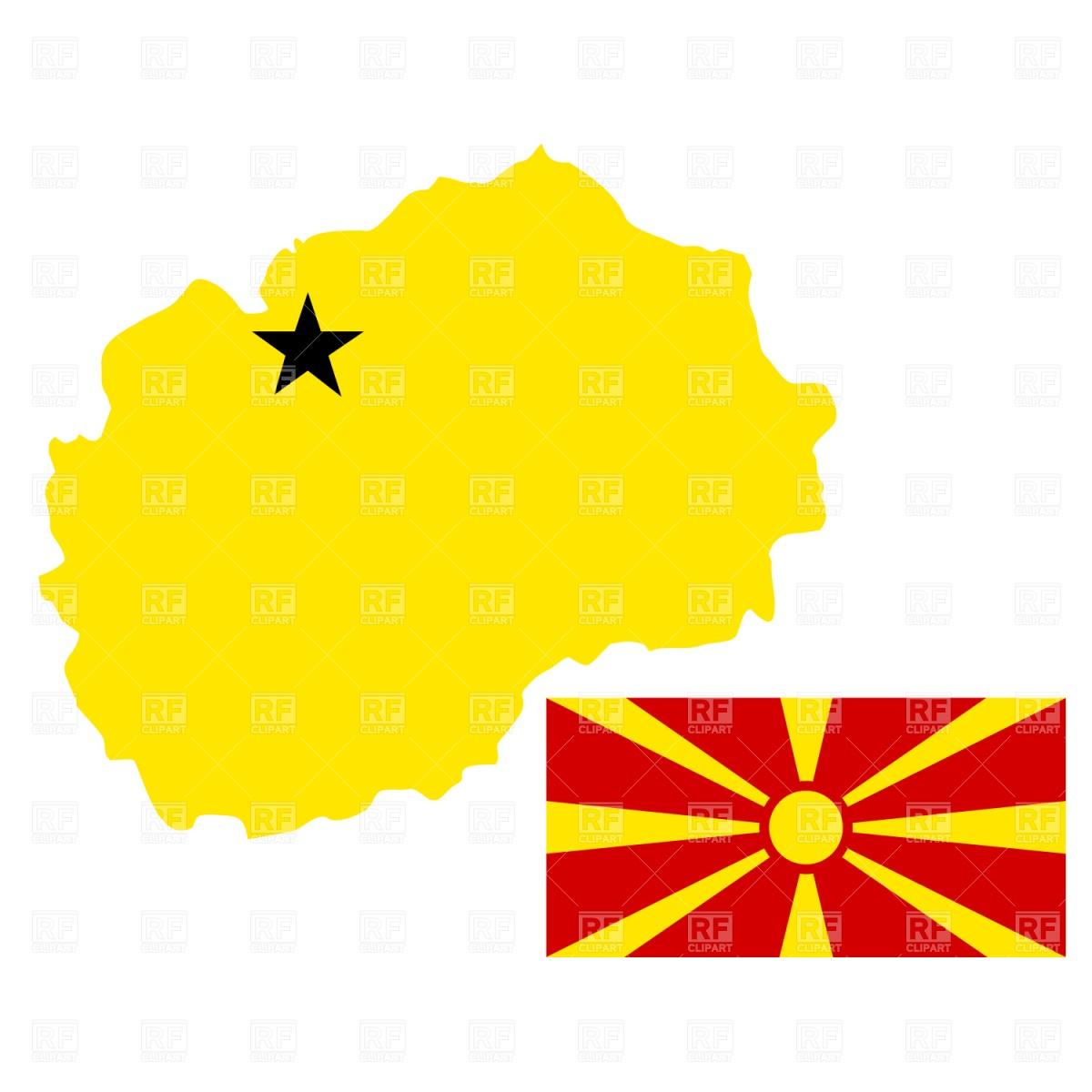 1200x1200 Macedonia Map And Flag Royalty Free Vector Clip Art Image