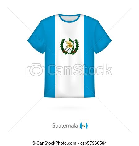 450x470 T Shirt Design With Flag Of Guatemala. T Shirt Vector Vector