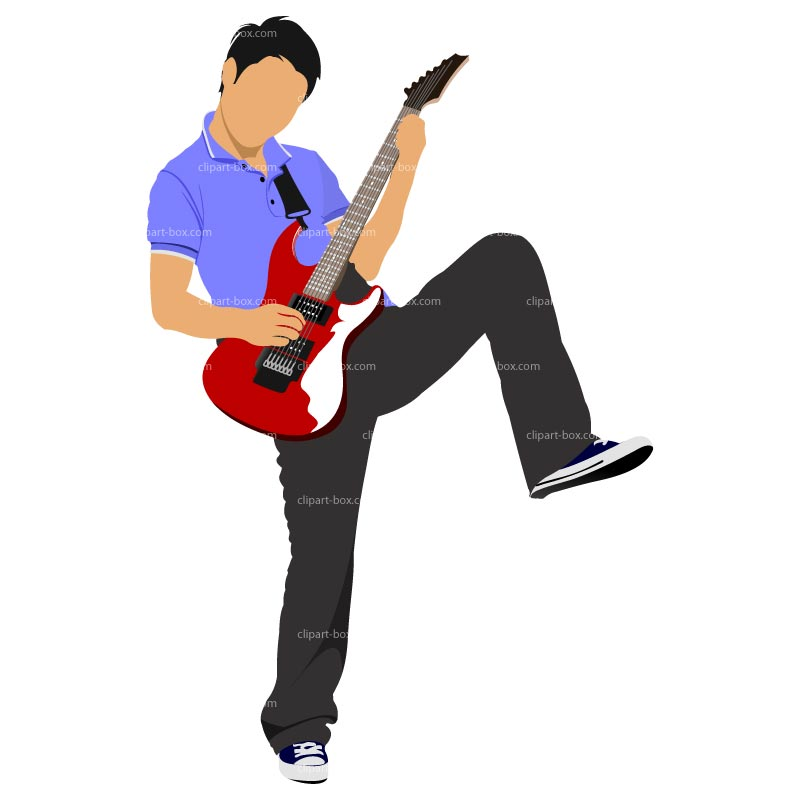 800x800 Free Guitar Player Clipart Image