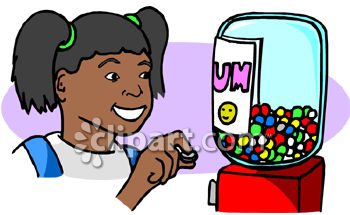 350x215 African American Girl Buying A Gumball
