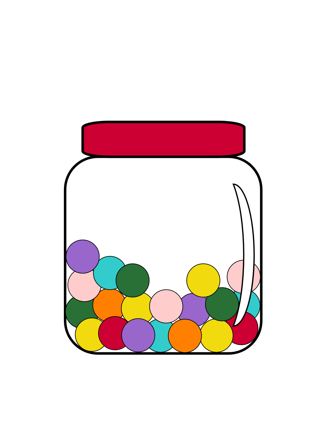 1090x1500 Gumball Clipart Colourful