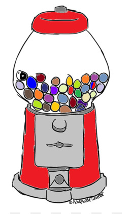 260x420 Gumball Machine Png And Psd Free Download