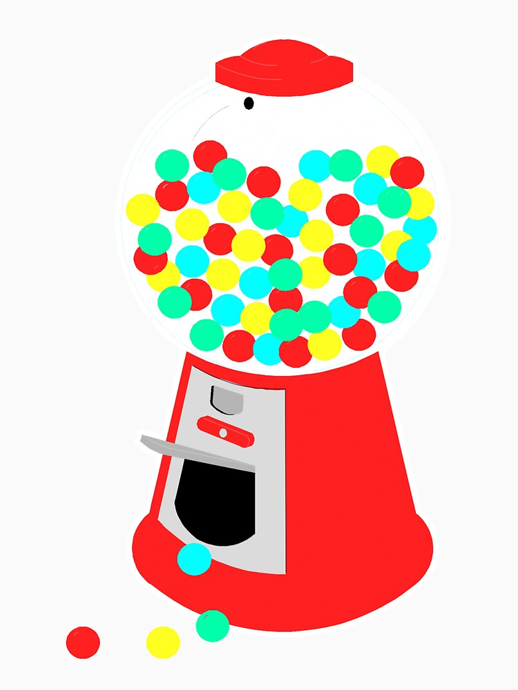 750x1000 Gumball Machine Unisex T Shirt By Pcreations Redbubble