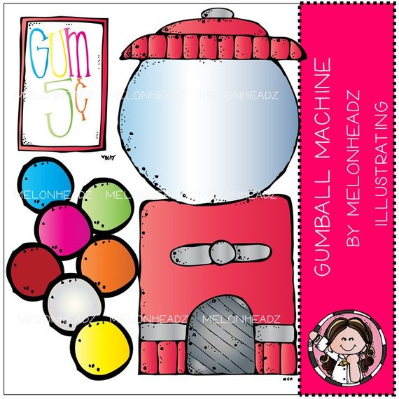 570x570 Gumball Machine Clip Art Combo Pack