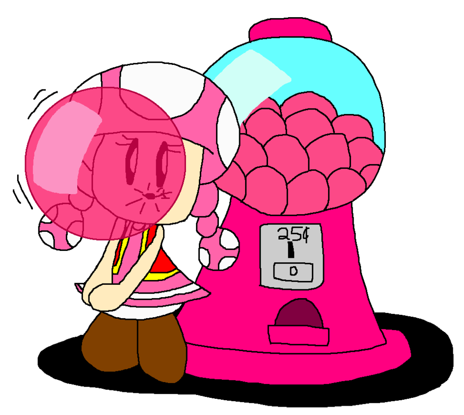 945x845 Toadette And Her Strawberry Gumball Machine By Pokegirlrules