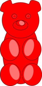146x297 Gummy Bear Outline Clip Art