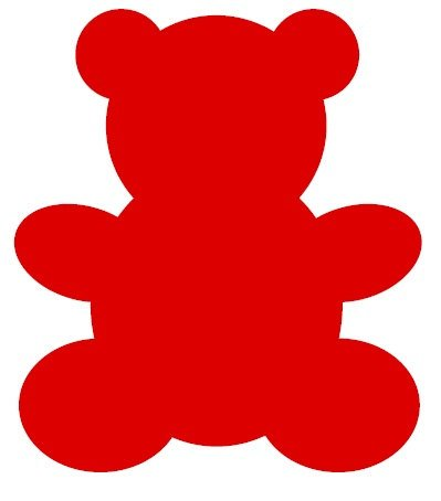 399x454 Bear Clipart Red 3060396