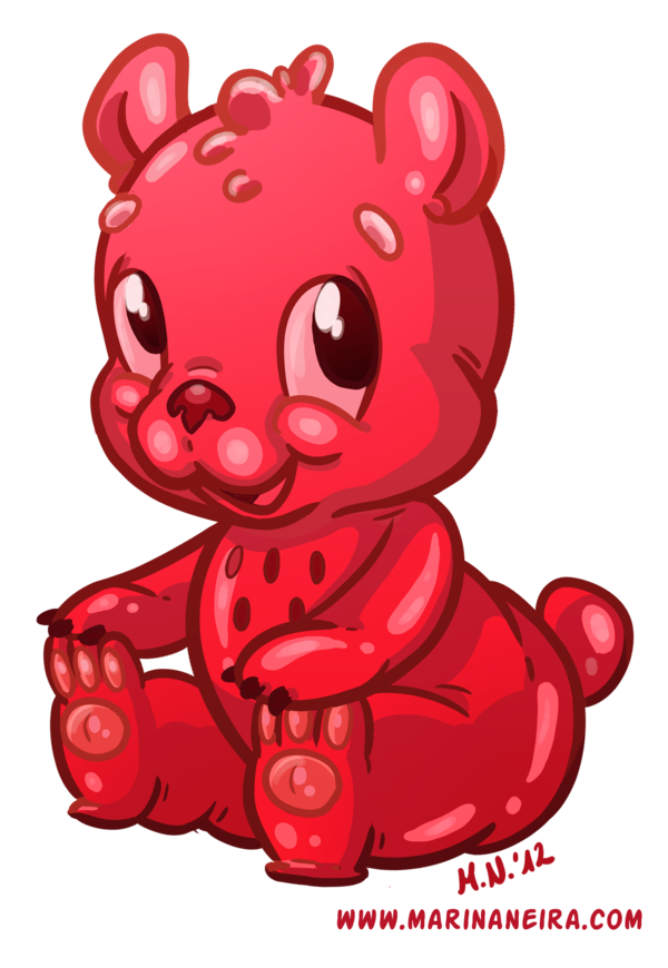 600x870 Gummy Bear By Marinaneira