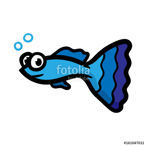 500x500 Cartoon Guppy Fish Vector Illustration Stock Image And Royalty