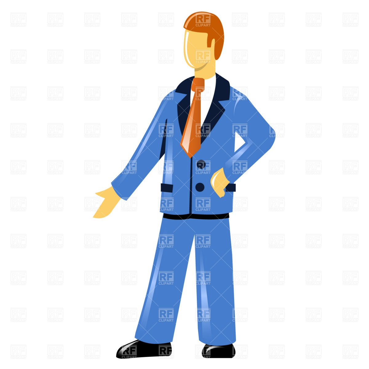 1200x1200 Man In Suit Royalty Free Vector Clip Art Image
