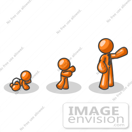 450x450 Baby Grow Clipart 35773 Clip Art Graphic Of A Sky Blue Guy