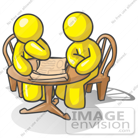 450x450 Solution Clipart 37695 Clip Art Graphic Of Yellow Guy Characters