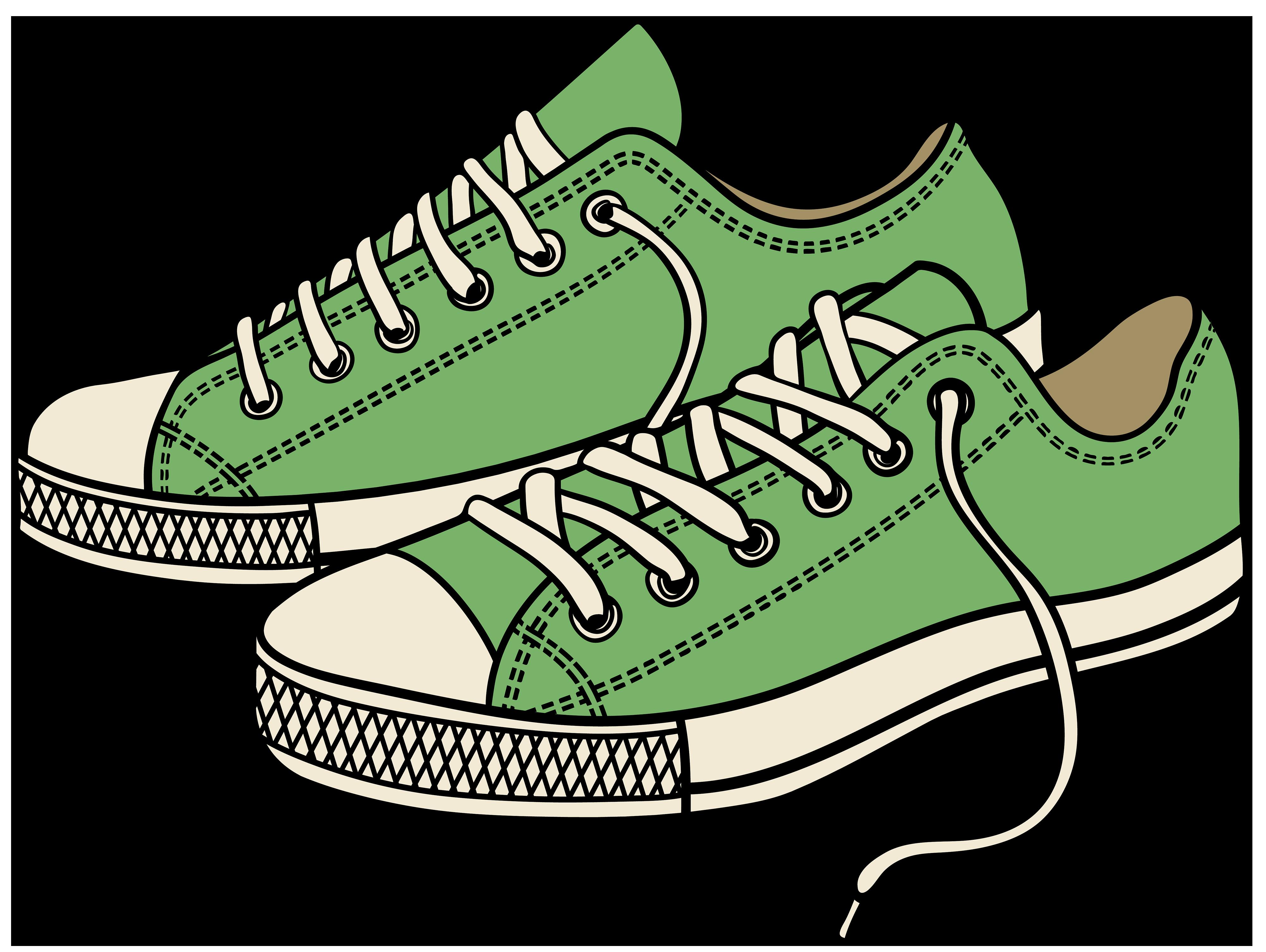 4000x3010 Clip Art Gym Shoes Clip Art