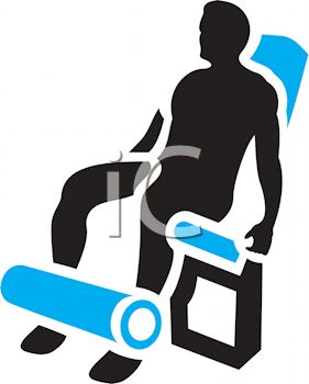 281x350 Royalty Free Clipart Image Silhouette Of A Man Using A Leg