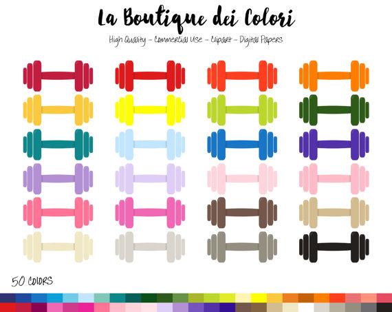570x453 50 Rainbow Dumbbell Clip Art, Digital Illustrations Png, Gym