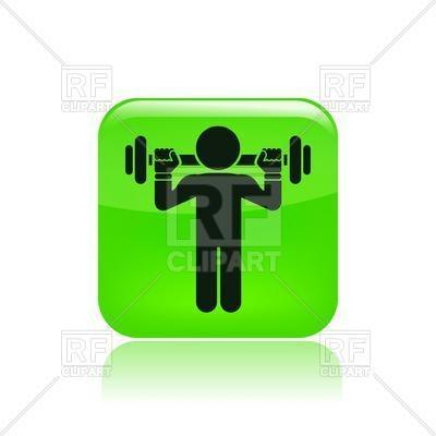 400x400 Bodybuilder With Weight