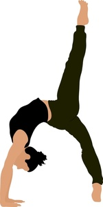 150x300 Gymnast Clipart Image