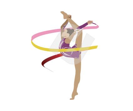 425x356 Gymnast Vector Clip Art