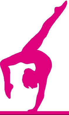 236x391 Gymnastic Silhouette Decals Pink Gymnastics Silhouette Leap
