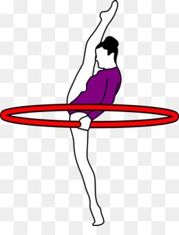 260x340 Gymnastics Tumbling Blue Clip Art