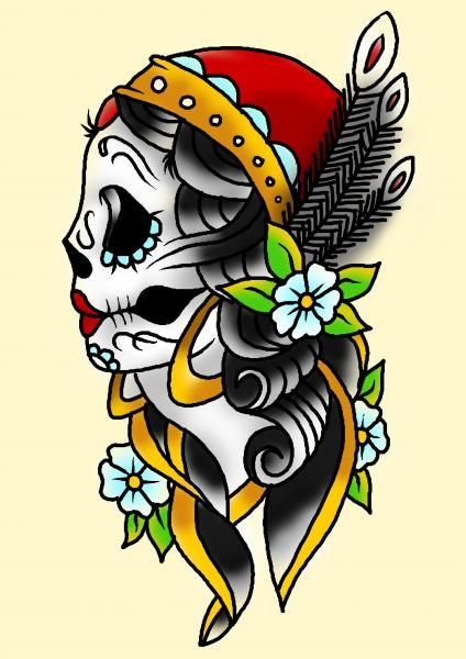 424x600 Drawn Skull Gypsy Free Collection Download And Share Drawn Skull