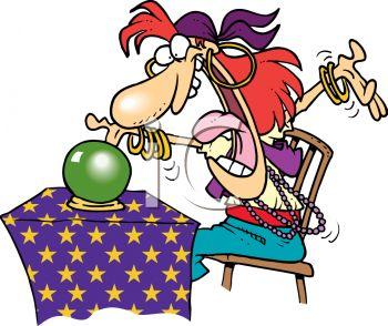 350x294 Fortune Telling Gypsy Clip Art
