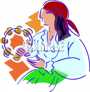 295x300 Art Image A Gypsy With A Tambourine