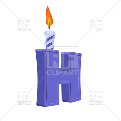 400x400 Letter H Birthday Font Royalty Free Vector Clip Art Image