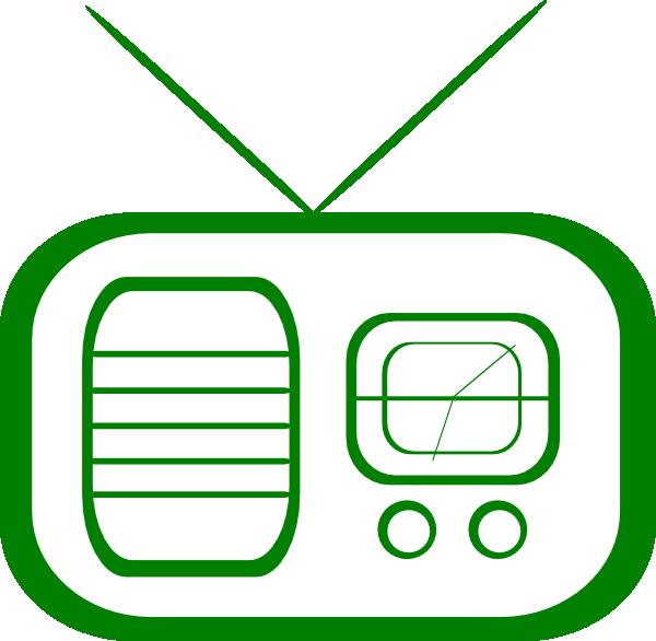 600x586 Radio Green Clip Art