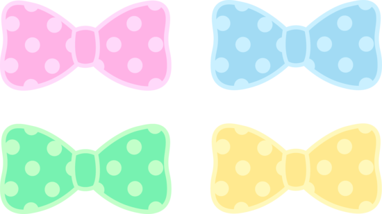 550x309 Cute Polka Dot Pastel Bows Free Clip Art