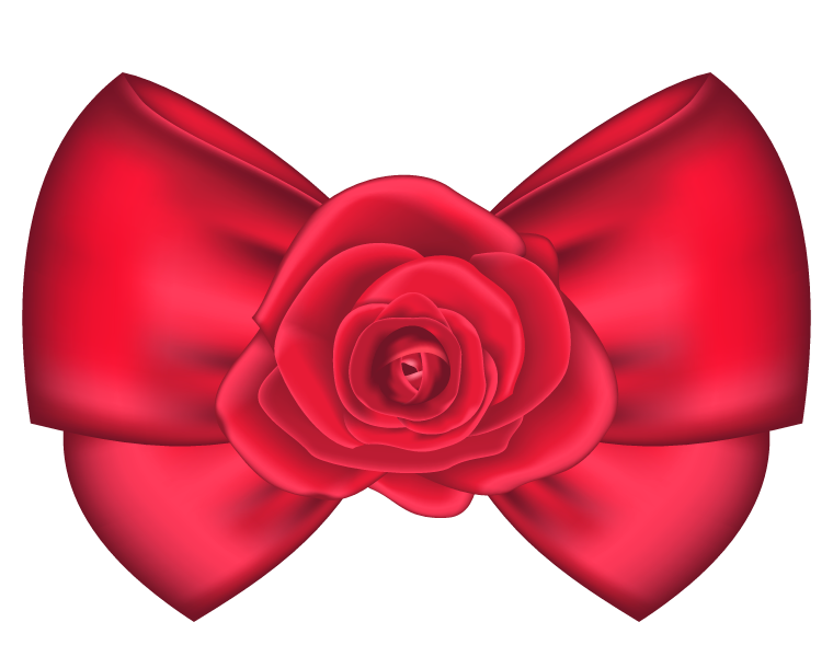 760x610 Decorative Bow With Rose Png Clipart Picture Clipart