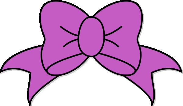 600x346 Purple Hair Bow Clip Art