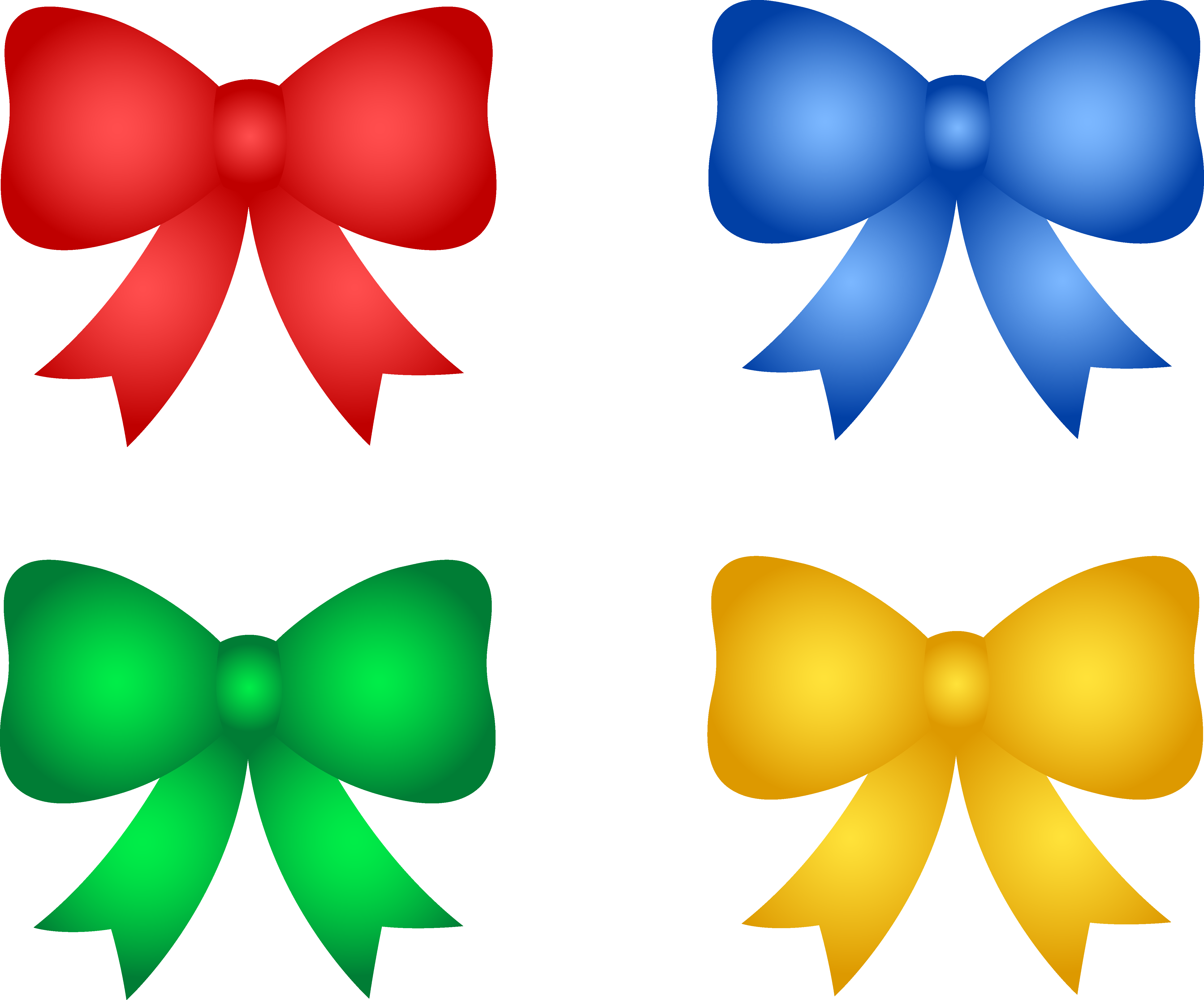 5095x4231 Shiny Christmas Or Birthday Bows
