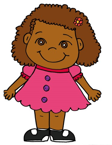371x480 Girl With Curly Hair Clipart 101 Clip Art