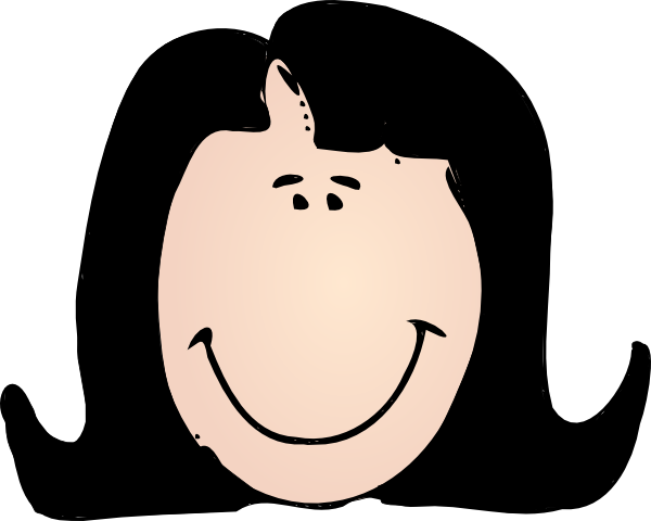 600x480 Woman With Black Hair Clip Art