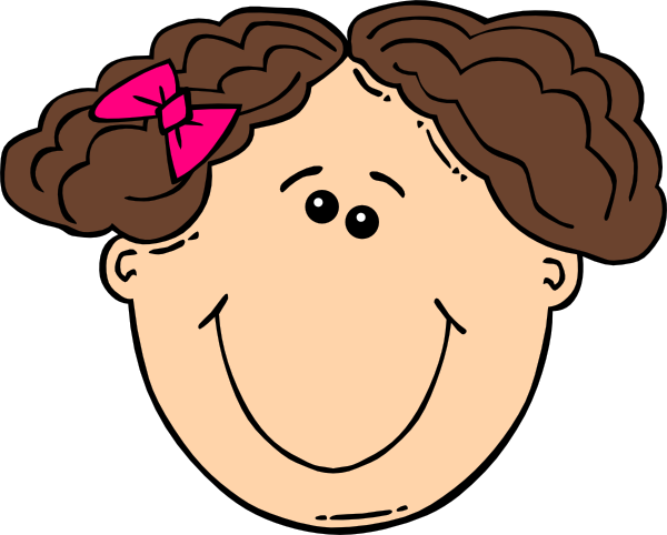 600x482 Short Hair Clipart Smiling Short Brown Hair Girl Clip Art