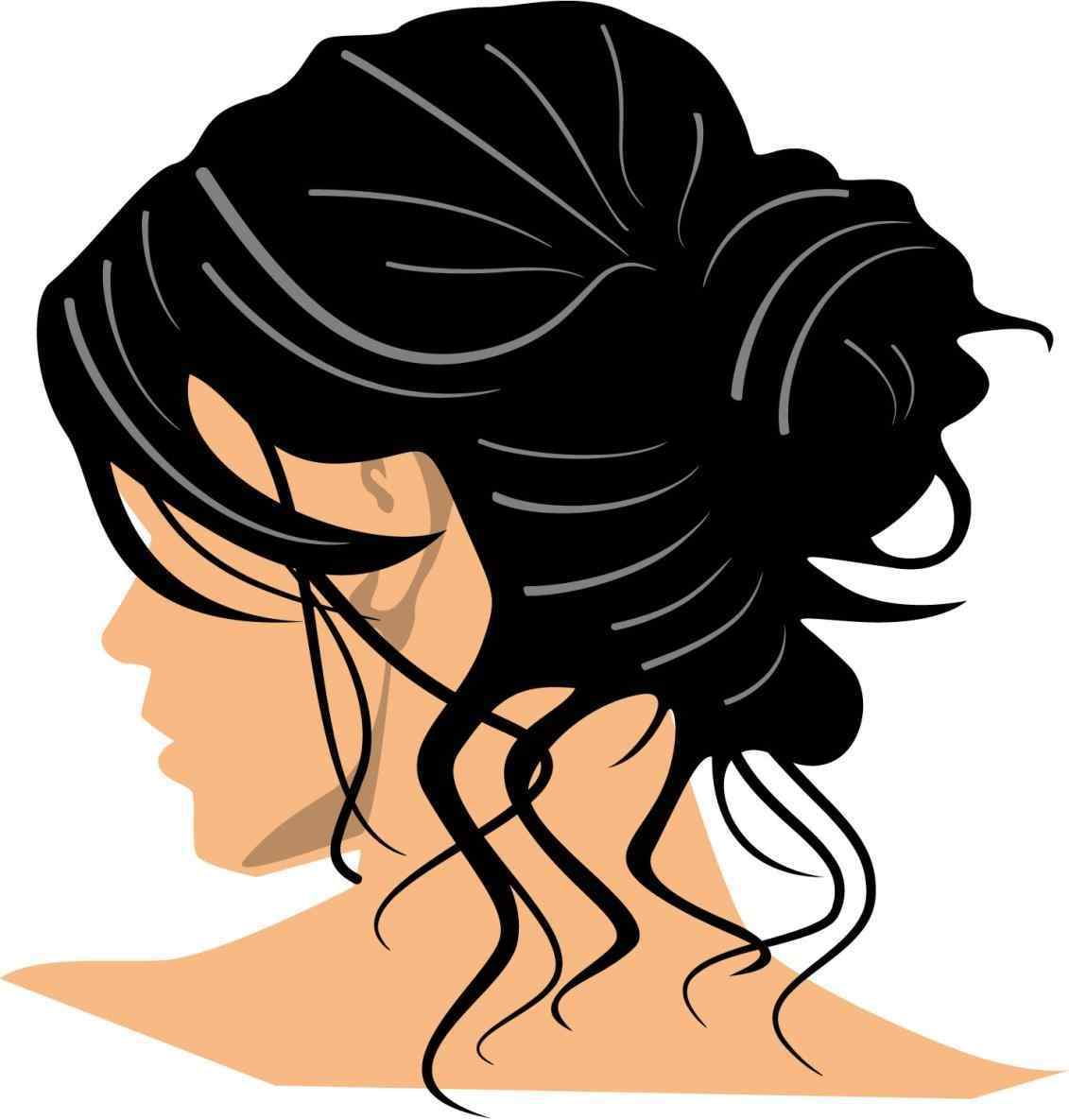 1131x1185 Clipground Woman Haircut Clipart Black And White Hair Clipground