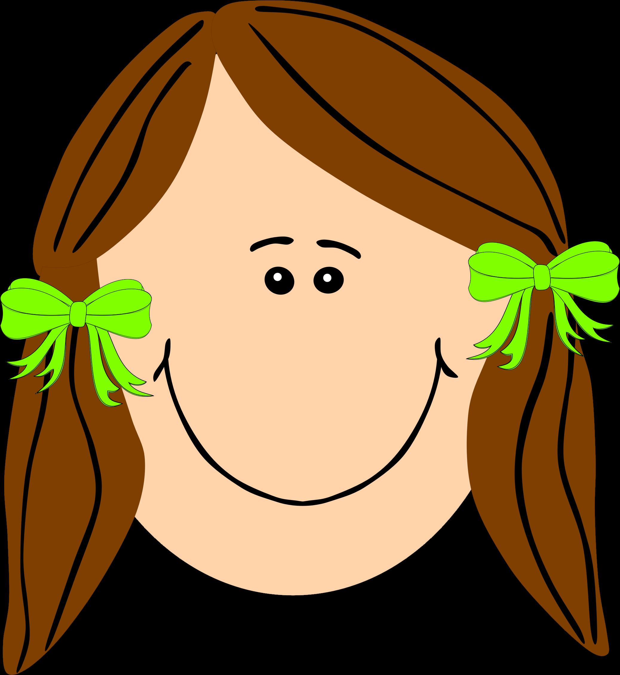 2076x2261 Brown Hair Clipart Straight Hair