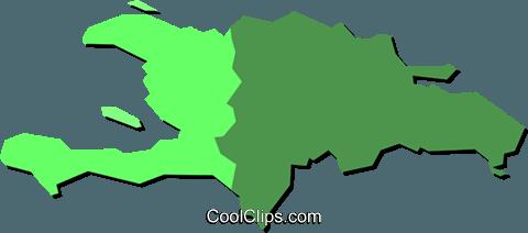 480x212 Haiti And Dominican Republic Royalty Free Vector Clip Art