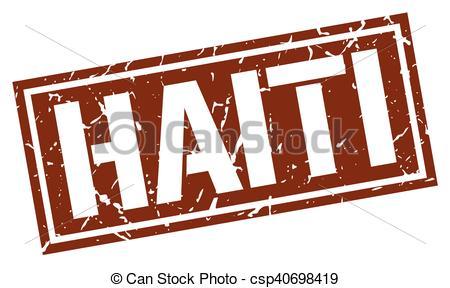 450x288 Haiti Brown Square Stamp Vector Clip Art