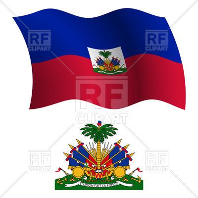 400x400 Haiti Flag And Coat Of Arms Royalty Free Vector Clip Art Image