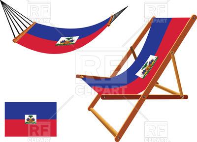 400x289 Haiti Flag Hammock And Deck Chair Royalty Free Vector Clip Art