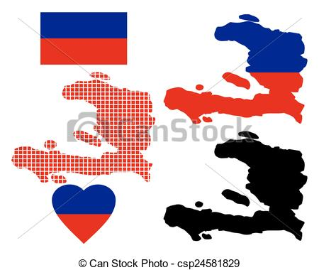 450x380 Map Of Haiti And The Different Types Of Characters On A Vector