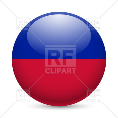 400x400 Round Glossy Icon With Flag Of Haiti Royalty Free Vector Clip Art