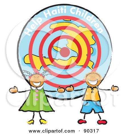 450x470 Royalty Free (Rf) Clipart Illustration Of Two Stick Children